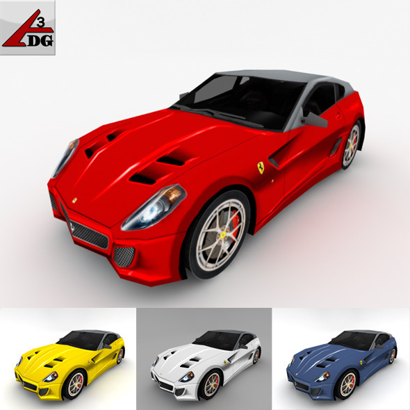 Ferrari 599 GTO - 3DOcean Item for Sale