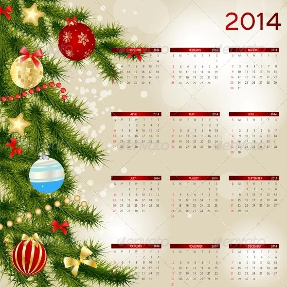 GraphicRiver 2014 New Year Calendar 5030724