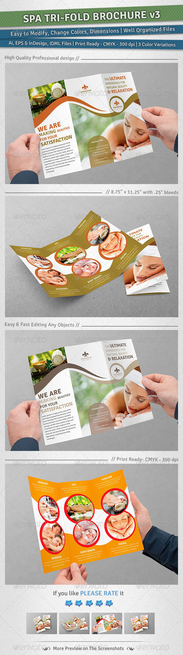 GraphicRiver Spa Tri-Fold Brochure Volume 3 5031213