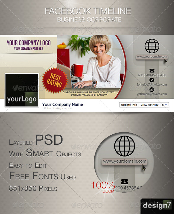 GraphicRiver Fb Timeline Business Corporate 4755237