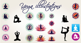 yoga vector illustrations