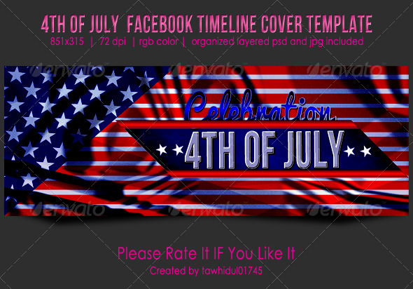 GraphicRiver 4th of July Facebook Timeline Cover 5031458