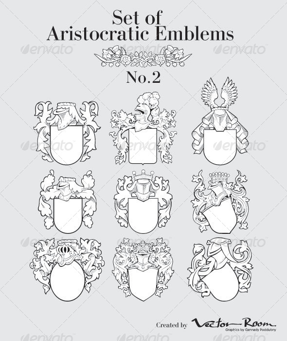 GraphicRiver Set of Aristocratic Emblems No2 5031510