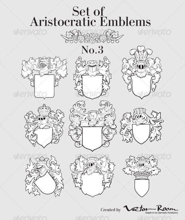 GraphicRiver Set of Aristocratic Emblems No3 5031732