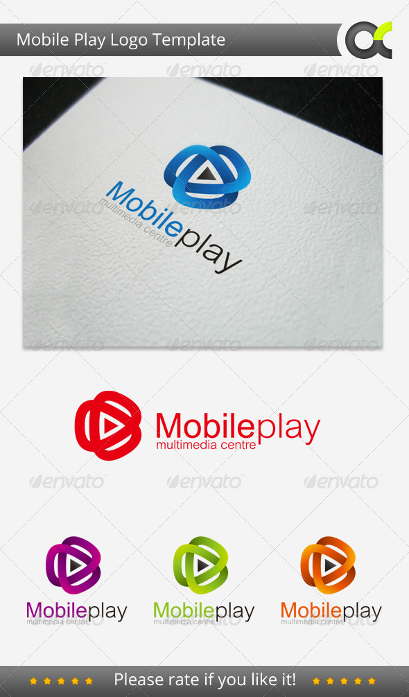 GraphicRiver Mobile Play Logo Template 5021471