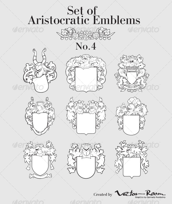 Set of Aristocratic Emblems No4 - Vectors