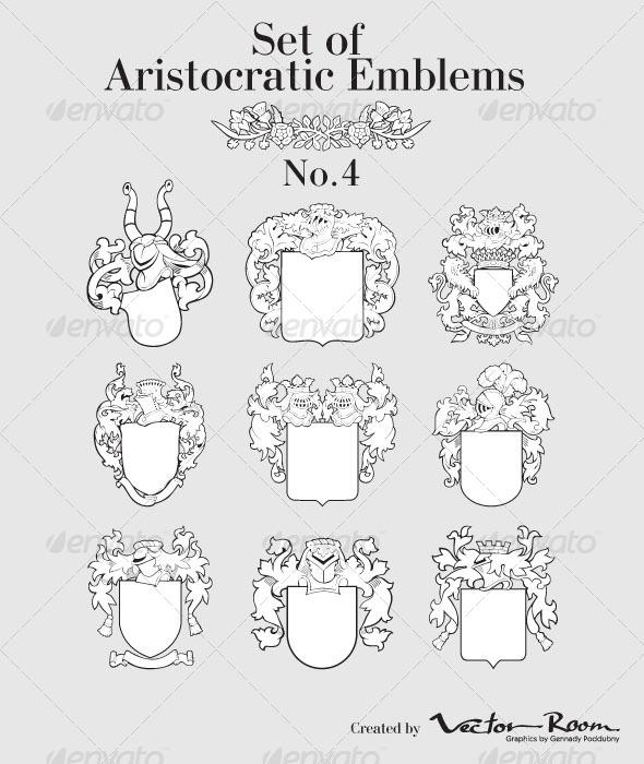 Set of Aristocratic Emblems No4 - Vectors