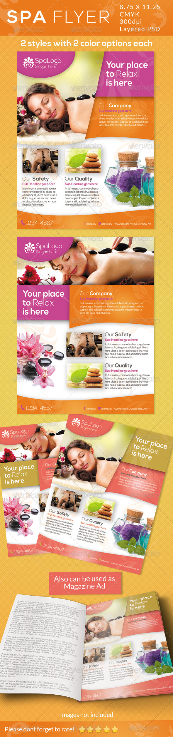 GraphicRiver Spa Flyers Print Ad 5032118