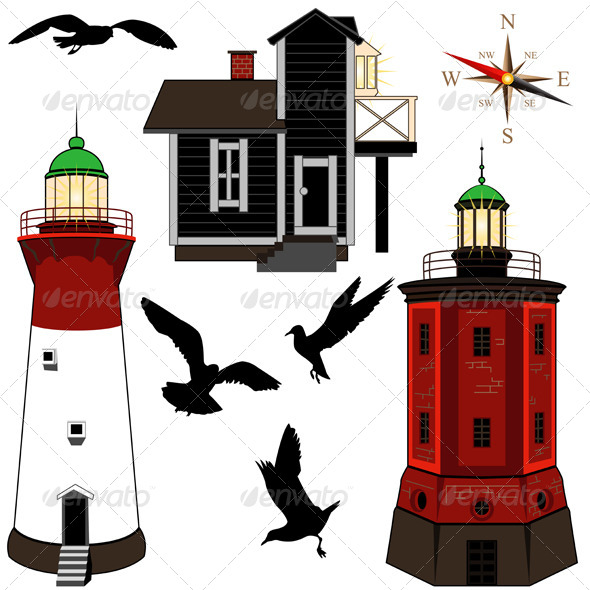 GraphicRiver Set of Lighthouses 5032168