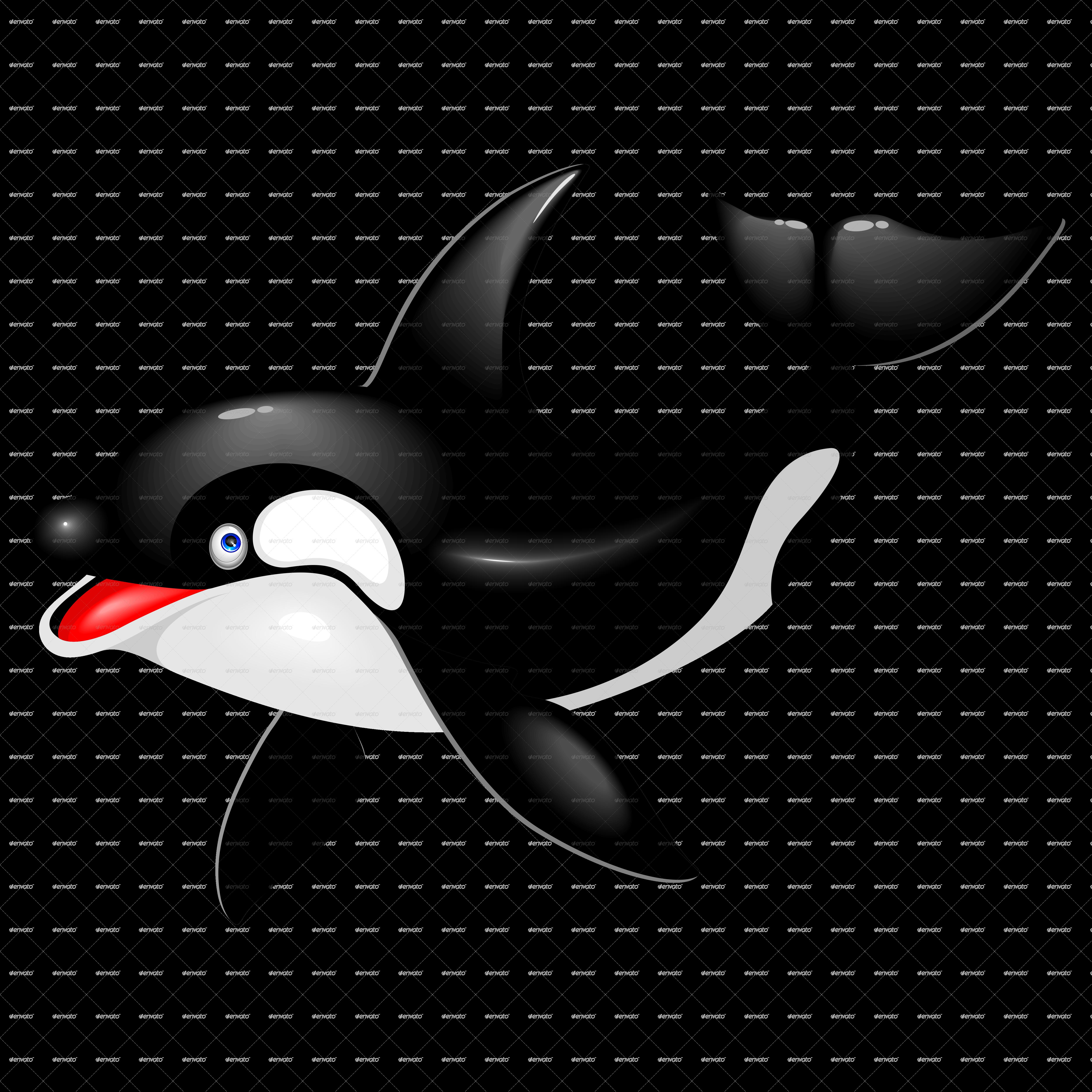 Orca Killer Wha... Orca Whale Cartoon