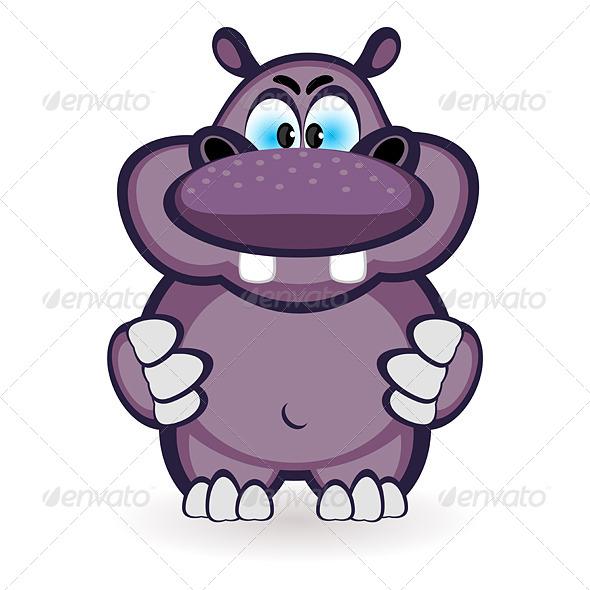 GraphicRiver Cartoon hippo 5032477