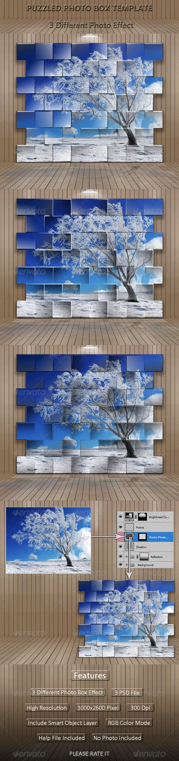 GraphicRiver Puzzled Photo Box Template 5032701