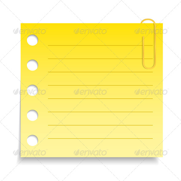 GraphicRiver Yellow Paper Note 5032727