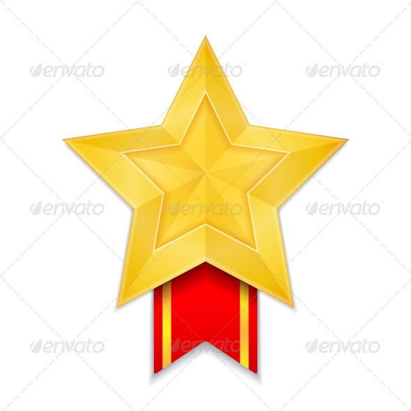 GraphicRiver Star Shaped Medal 5032745