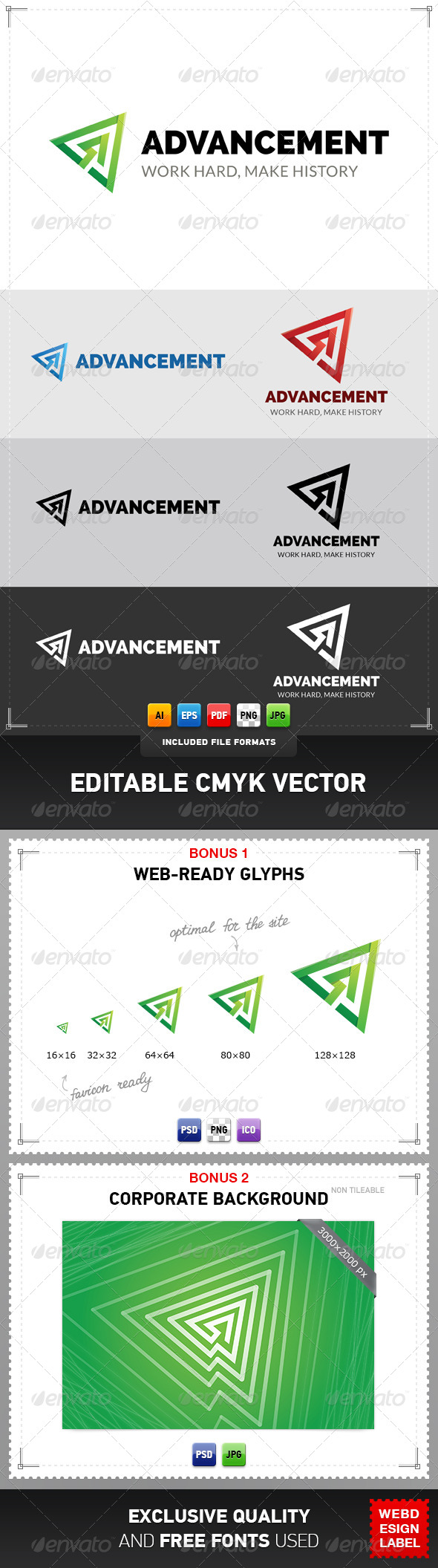 GraphicRiver Advancement Logo 5032746