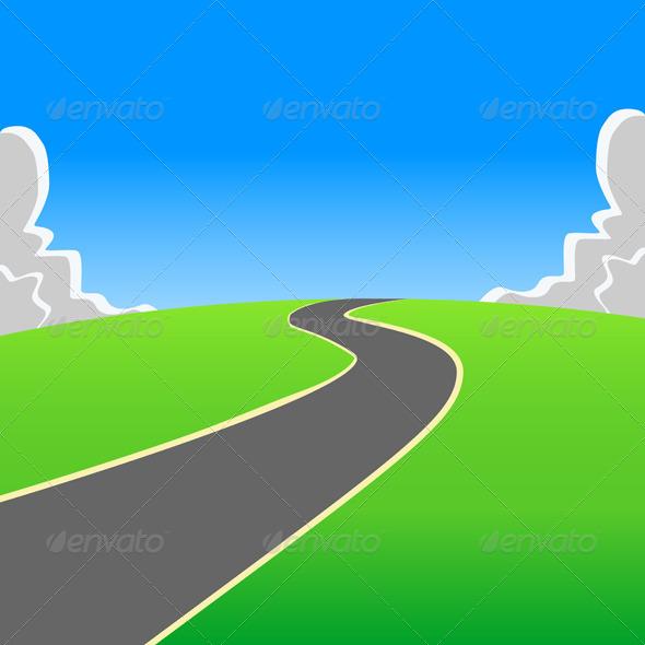 GraphicRiver Road into the Unknown 5032758