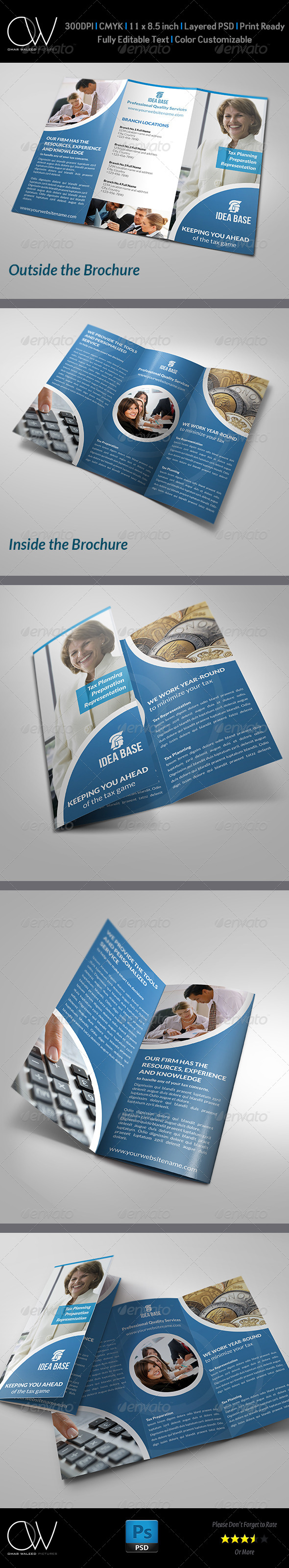 Accounting Services Tri-Fold Brochure - Brochures Print Templates