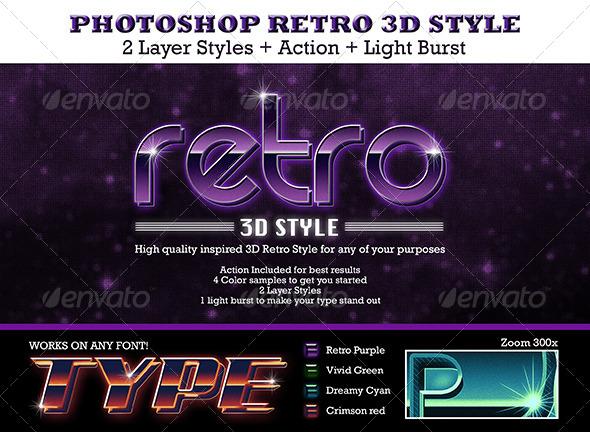 GraphicRiver Retro 3D Text Style 5033611