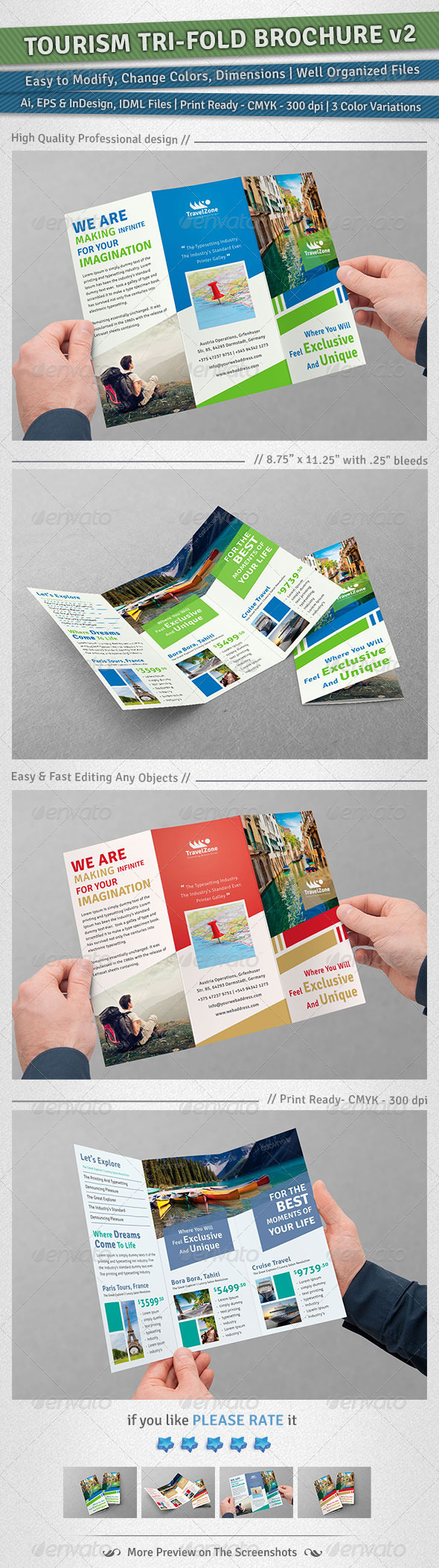 GraphicRiver Tourism Tri-Fold Brochure Volume 2 5033855