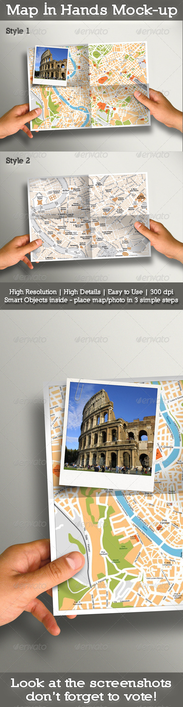 GraphicRiver Map In Hands Mock-up 5033857