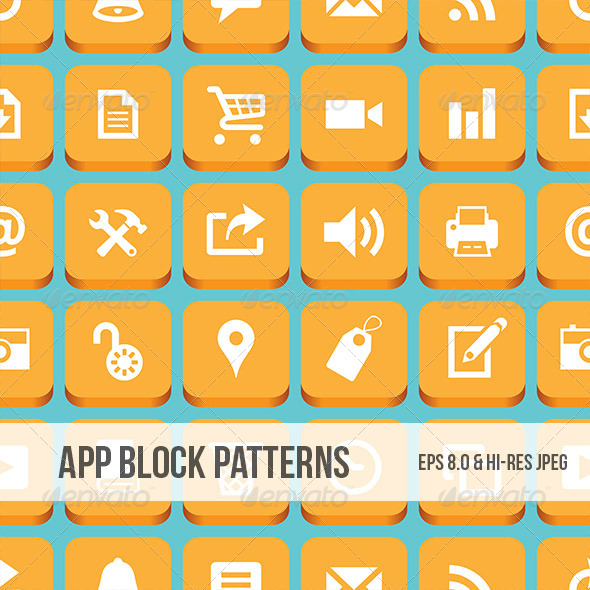 GraphicRiver App Block Pattern 5034232