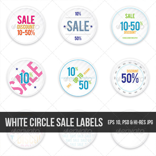 GraphicRiver Sale White Shadowy Labels 5034234