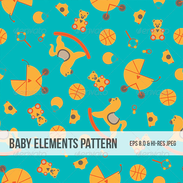 GraphicRiver Seamless Baby Element Abstract Pattern 5034275