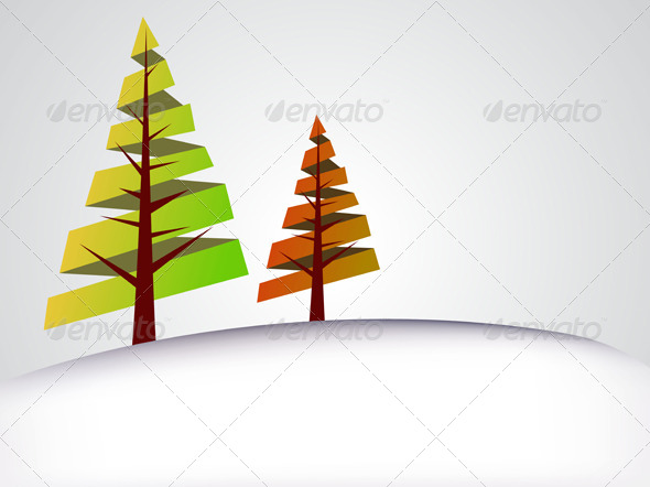 GraphicRiver Season Tree Background 5034399