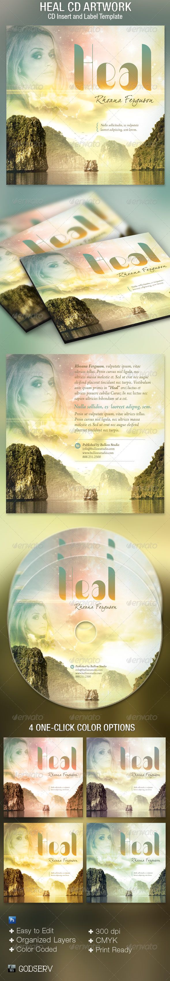 Heal CD Artwork Template - CD & DVD artwork Print Templates