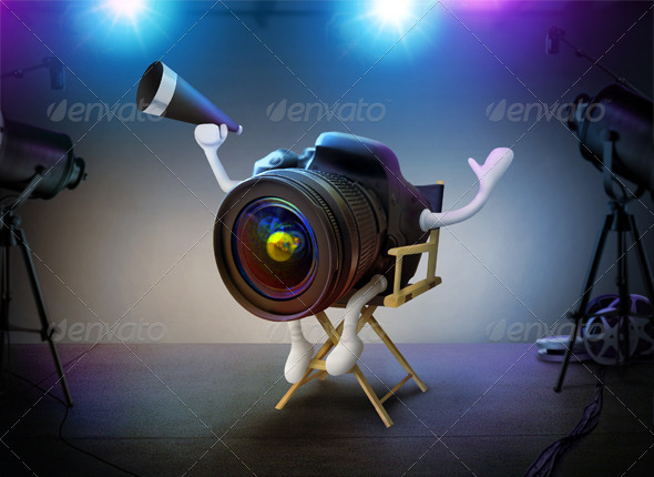 GraphicRiver DSLR Director On Movie Set 5034461