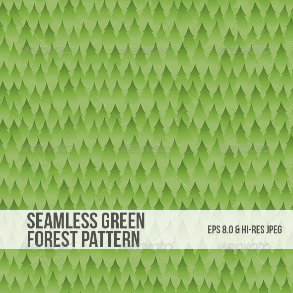 GraphicRiver Seamless Green Forest Background Pattern 5034462