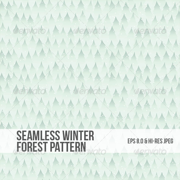 GraphicRiver Seamless Winter Forest Background Pattern 5034464