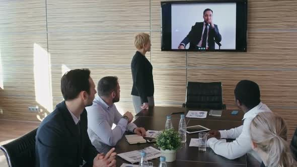 Download Business Team at Video Conference nulled download