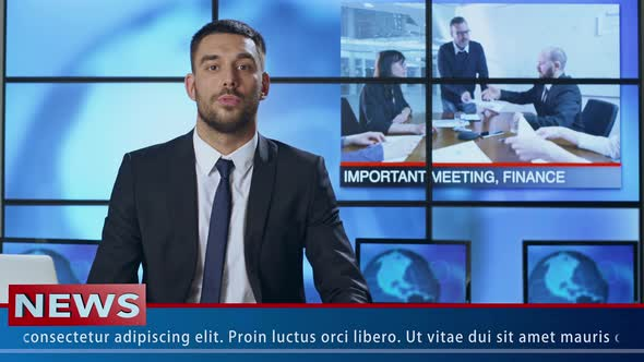 Download News Presenter Speaking Abou Meeting and Agreement nulled download