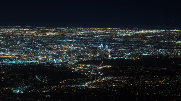 VideoHive Downtown Los Angeles from Mount Wilson at Night 19148922