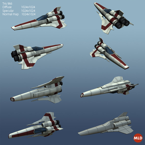 3DOcean Viper MK II Low Poly 5036334