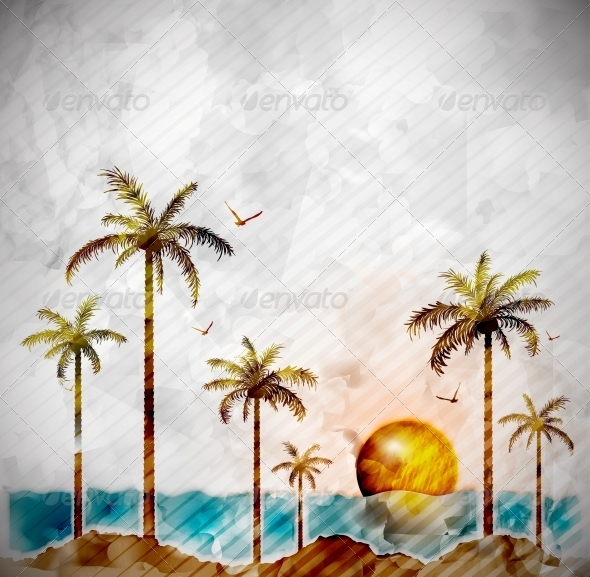 GraphicRiver Tropical Landscape 5036774