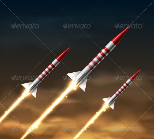 GraphicRiver Flying Rockets 5036798