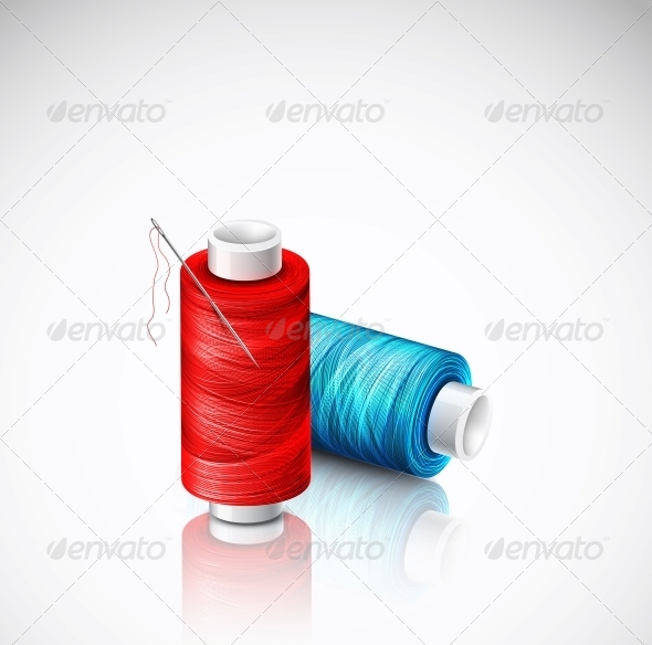 GraphicRiver Isolated Bobbins of Thread 5036803
