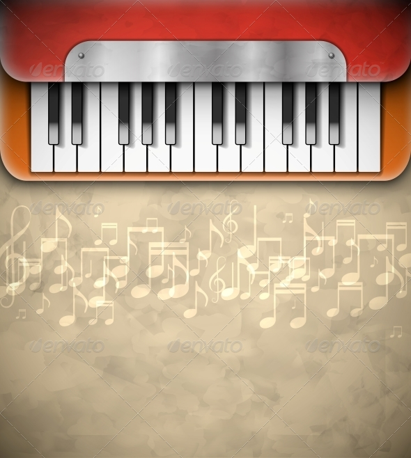 GraphicRiver Background with Piano 5036808
