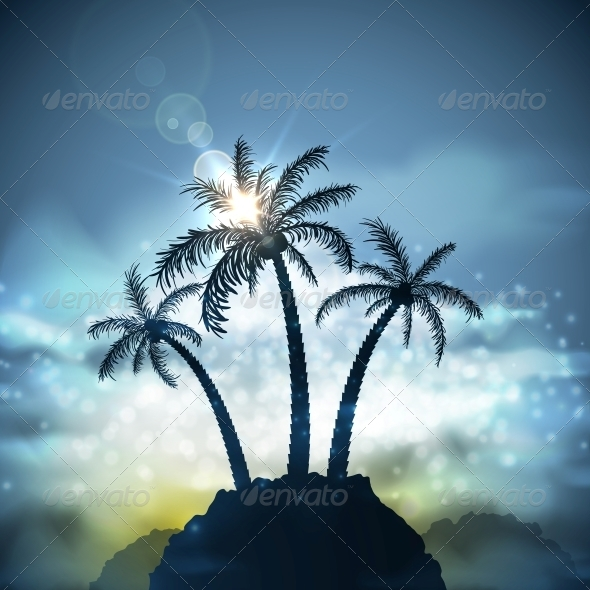 GraphicRiver Three Palm Trees 5036815
