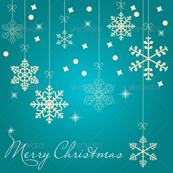 GraphicRiver Christmas Card with Snowflakes 5037121