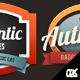 Colorful Vintage Retro Badges - GraphicRiver Item for Sale