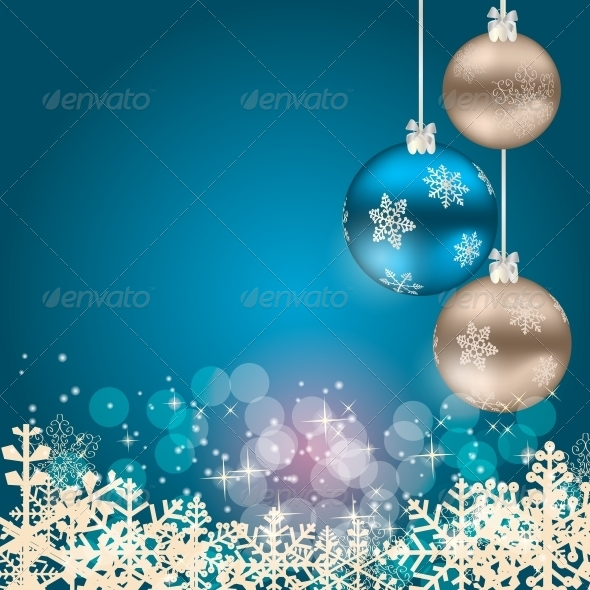 GraphicRiver Christmas and New Year Background 5037252