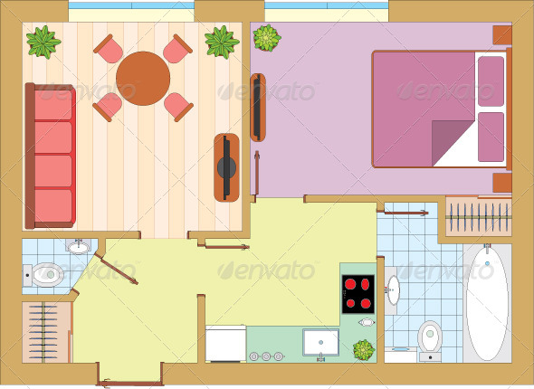 GraphicRiver Apartment Drawing 5037263