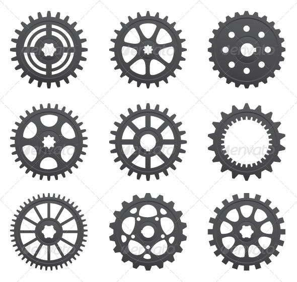 GraphicRiver Set of Gears and Pinions 5037293