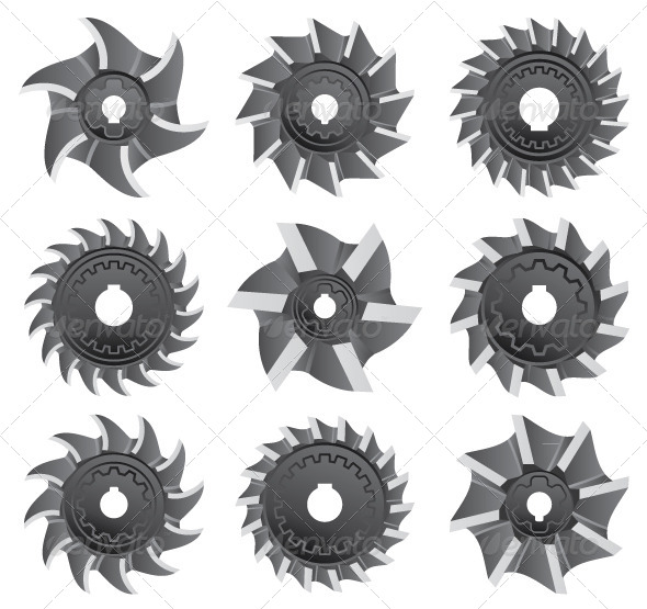 GraphicRiver Milling Cutters for Metal 5037318