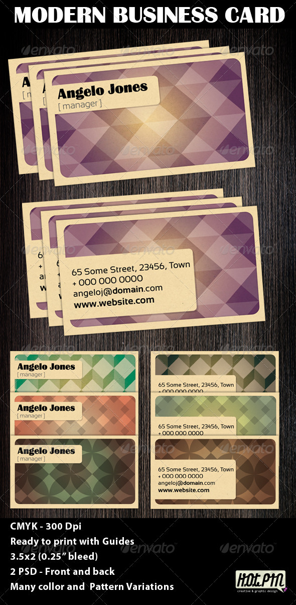 Modern Business Card Template - Business Cards Print Templates