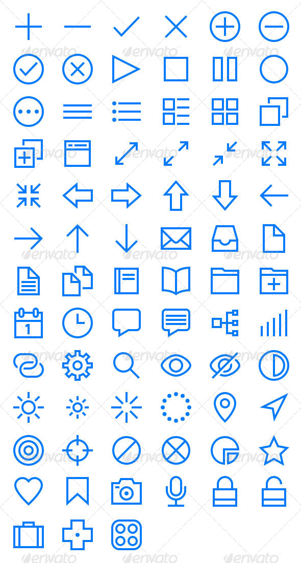 GraphicRiver Lightly Vector Icons 5037544