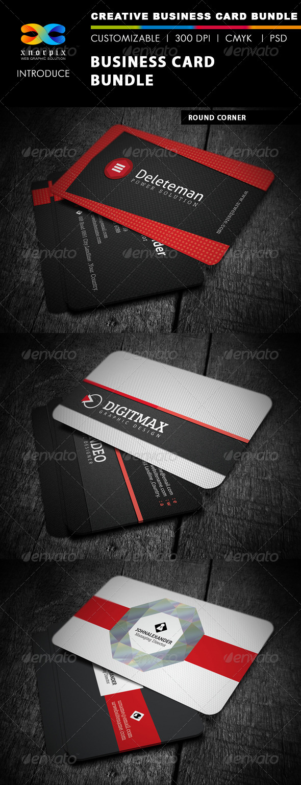GraphicRiver Business Card Bundle 3 in 1-Vol 4 5037653